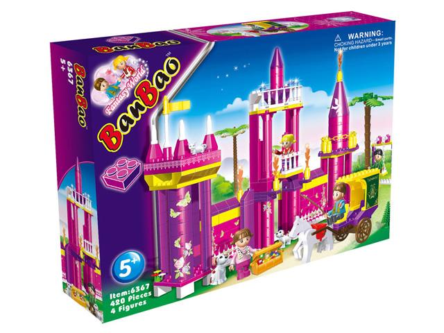 """Конструктор """"Замок"""" 420 деталей в коробке ТМ BanBao (6367) от Ravta"""