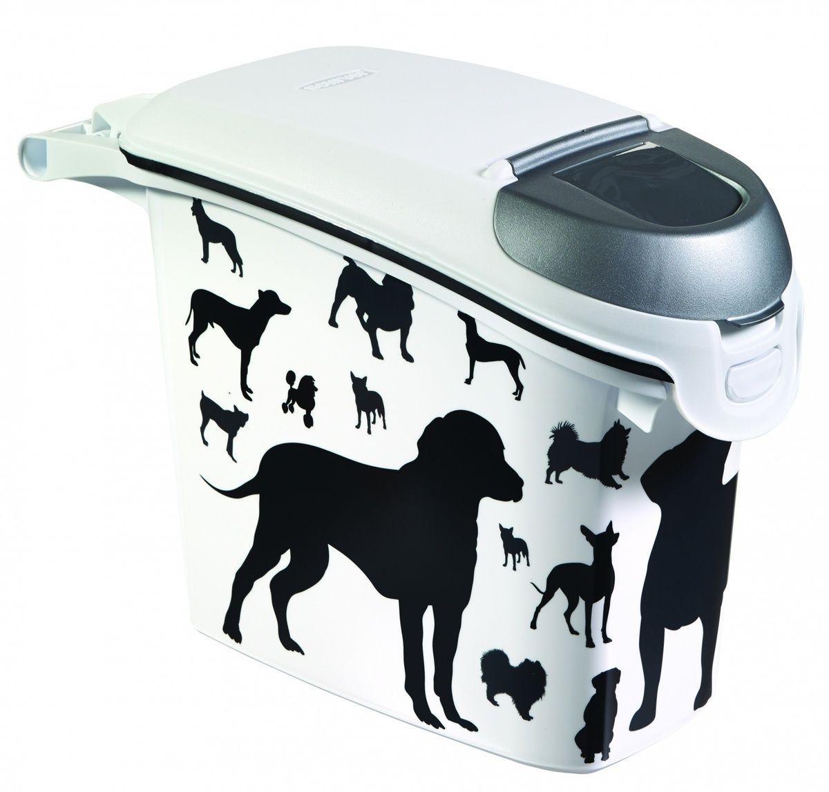 """Контейнер для корма """"Собаки"""" черно-белый, на 6кг/15л, 23*50*36см (210340) от Ravta"""