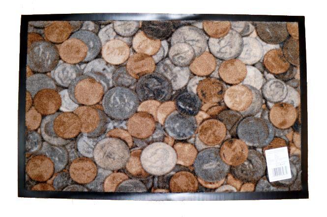 Коврик Carpets Inter придверный Delta-P Монеты 580*900мм от Ravta