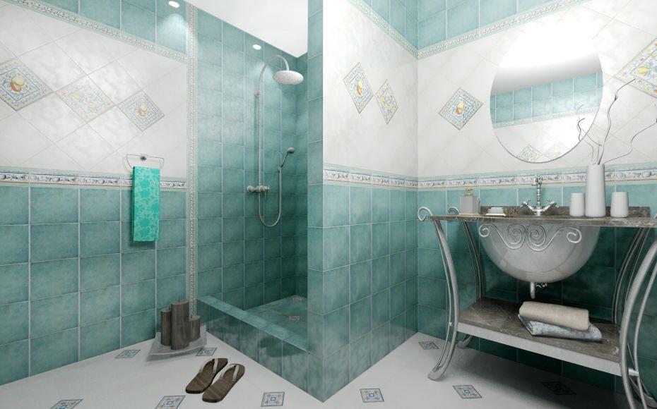Дизайны ванной из плитки керама марацци