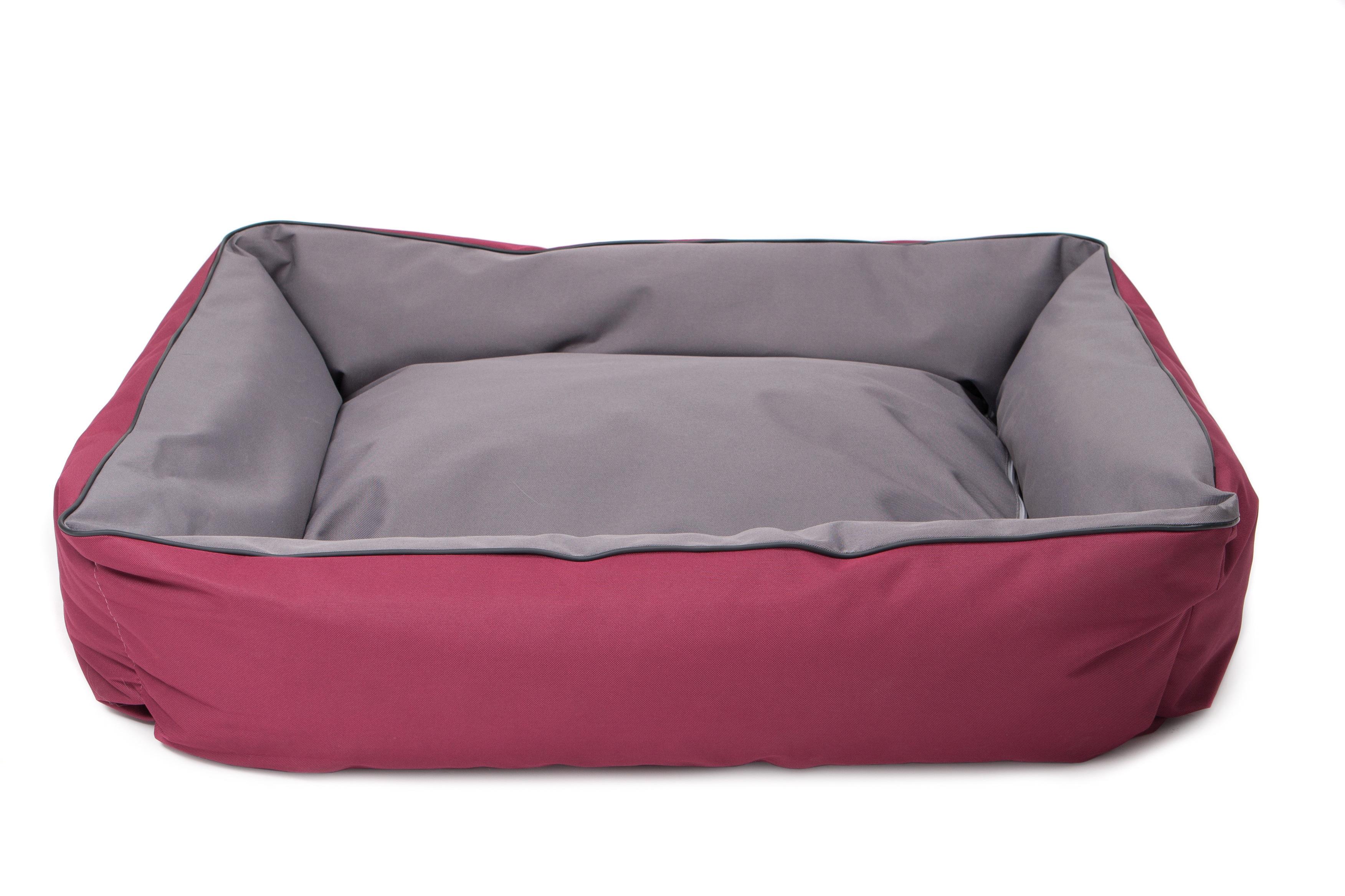 comfy Лежанка COMFYARNOLD DUOсерый /бордовый / (100х85 см) 239412