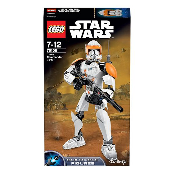 Конструктор Лего Звездные войны (Lego Star Wars) Клон-коммандер Коди, Lego 75108Конструкторы<br><br><br>Артикул: 75108<br>Бренд: Lego<br>Категории: Лего Звездные войны / Lego Star Wars