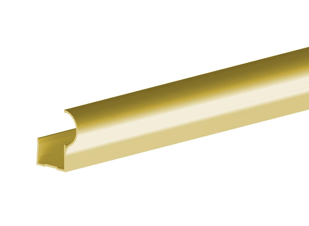 Профиль алюминиевый вертикальный Factor-decor для дверного полотна толщиной 16 мм, длиной 2700 мм,  анодированный, цвет золото от Ravta