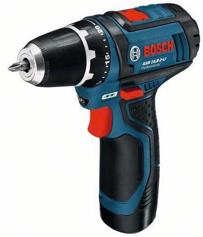 Дрель аккумуляторная BOSCH GSR 10,8-2-LI (10.8 В, 2скор, 30нм, 0,95кг, 2акк.1.5Ач,коробка)Аккумуляторные шуруповерты и дрели<br><br><br>Артикул: 0601868107<br>Бренд: Bosch<br>Родина бренда: Германия