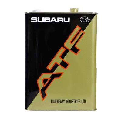 Масло SUBARU ATF (4л)Subaru<br><br><br>Артикул: K0415 YA100<br>Тип масла: Трансмиссионное<br>Коробка передач: автоматическая<br>Бренд: Subaru<br>Объем (л): 4<br>Применение масла: автоматические трансмиссии<br>Вид фасовки: жестяная банка<br>Родина бренда: Япония<br>Объем (л): 4