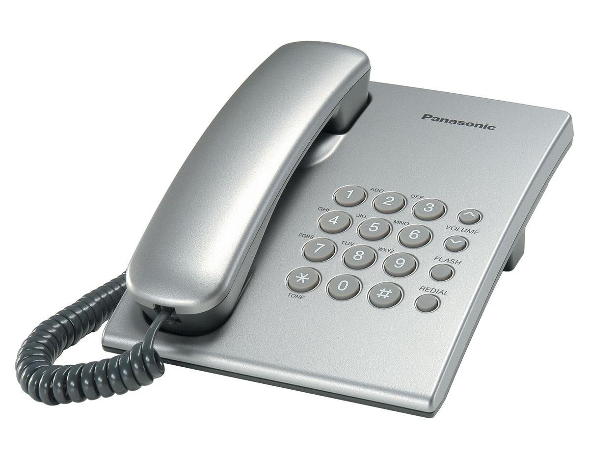 Телефон проводной Panasonic KX-TS 2350 RUS серебристый от Ravta