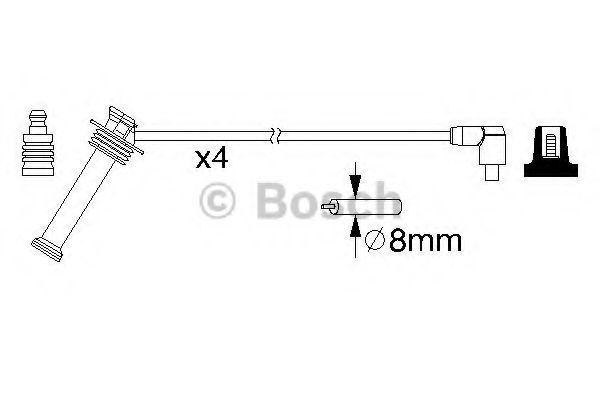 (0986357208) Bosch Провода в/в к-т Ford Focus I 1,4/1,6, Mondeo IV 1,6, Fusion 1,4/1,6 от Ravta