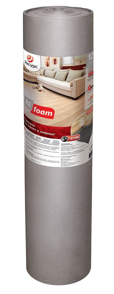 Подложка под ламинат Refoam 3002 1,2м*10м серый от Ravta
