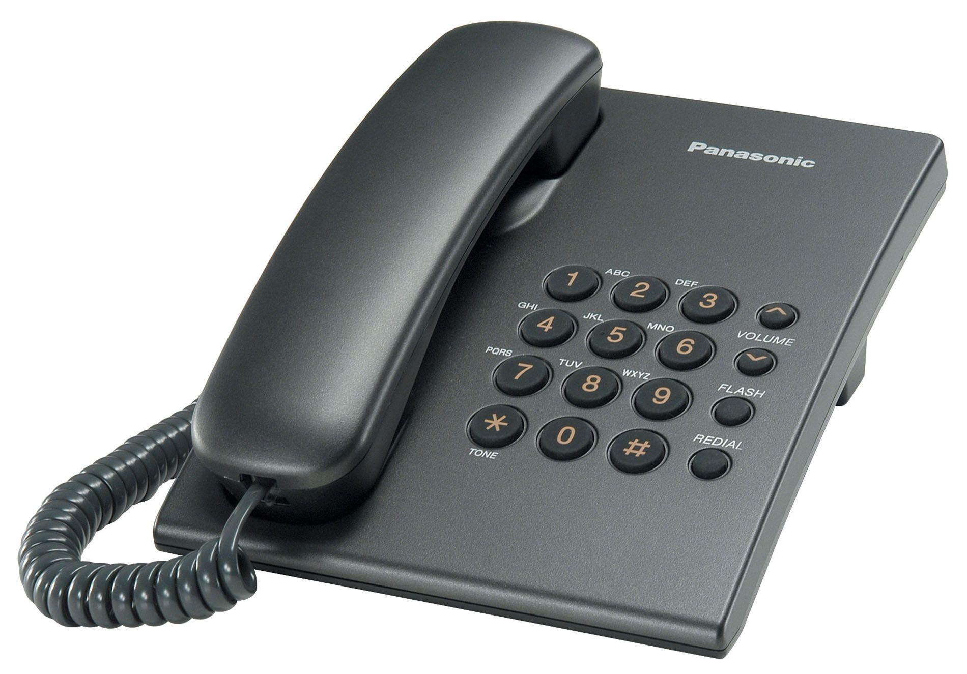 Телефон проводной Panasonic KX-TS 2350 RUT темно-серый от Ravta