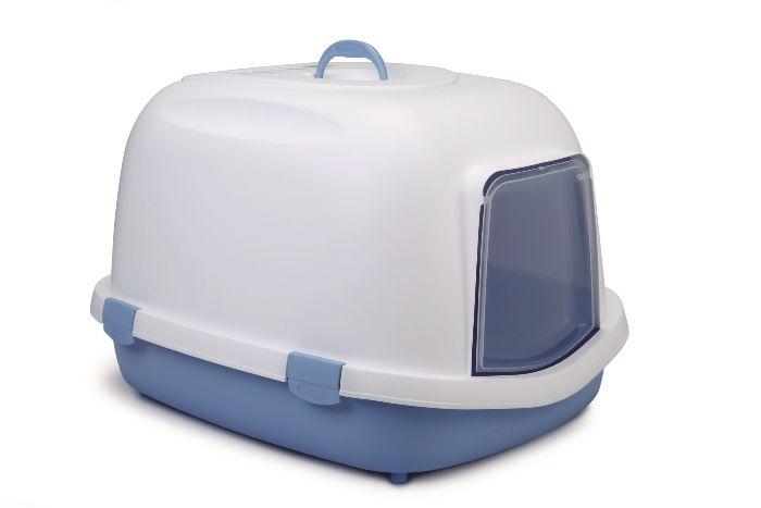 stefanplast Туалет закрытый StefanplastSuper Queen, с угольным фильтром, голубой, 55*71*47см 22737.гол