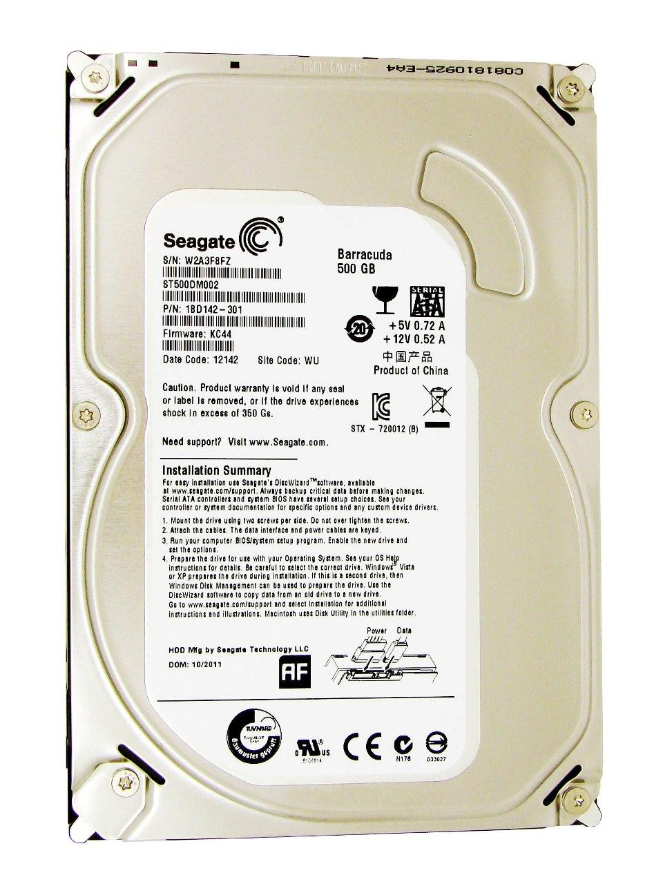 Жесткий диск SEAGATE ST500DM002 500GB SATA 7200 RPM 6GB/S 16MB от Ravta