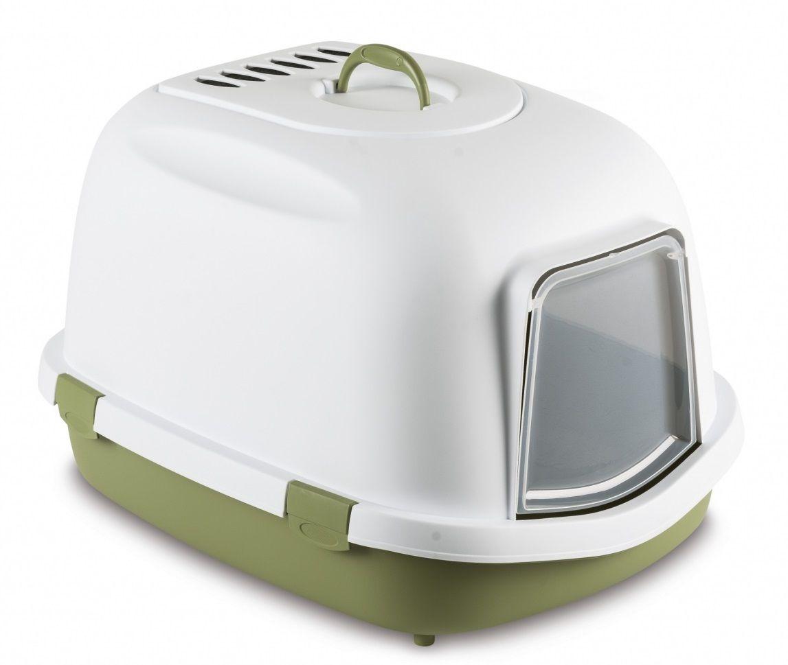 stefanplast Туалет закрытый Stefanplast Super Queen, с угольным фильтром, зеленый, 55*71*47см 22737.зел