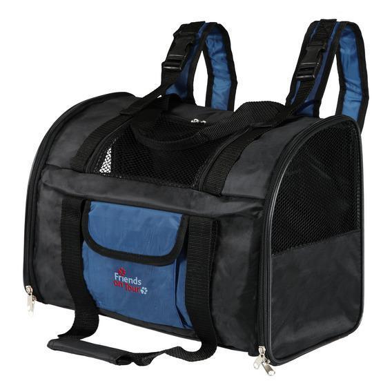 trixie Сумка - рюкзак TRIXIE для кошек и собак до 8 кг, нейлон, черно/синий 2882