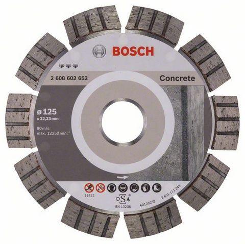 Диск алмазный BOSCH 125_22.23_2.2 по бетону железобетону сегментный (2608602652) Best for Concrete 2608602652Алмазные круги<br><br><br>Артикул: 2608602652<br>Бренд: Bosch<br>Родина бренда: Германия