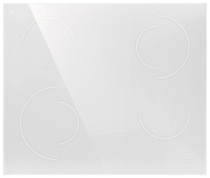 Электрическая варочная панель Gorenje ECT 6 SY2WВстраиваемые электрические варочные панели<br><br><br>Артикул: ECT6SY2W<br>Бренд: Gorenje<br>Высота упаковки (мм): 170<br>Длина упаковки (мм): 710<br>Ширина упаковки (мм): 630<br>Защитное отключение: да<br>Гарантия производителя: да<br>Вес упаковки (кг): 10,5<br>Глубина(см): 51<br>Ширина (см): 60<br>Глубина для встраивания (см): 49<br>Всего конфорок: 4<br>Ширина встраивания (см): 56<br>Тип электрических конфорок: керамическая<br>Расположение панели управления: спереди<br>Панель конфорок: стеклокерамика<br>Двухконтурные конфорки: да<br>Переключатели: сенсорные<br>Цвет панели конфорок: белый<br>Индикатор остаточного тепла: да<br>Дизайн домино: нет<br>Автоматика закипания: да
