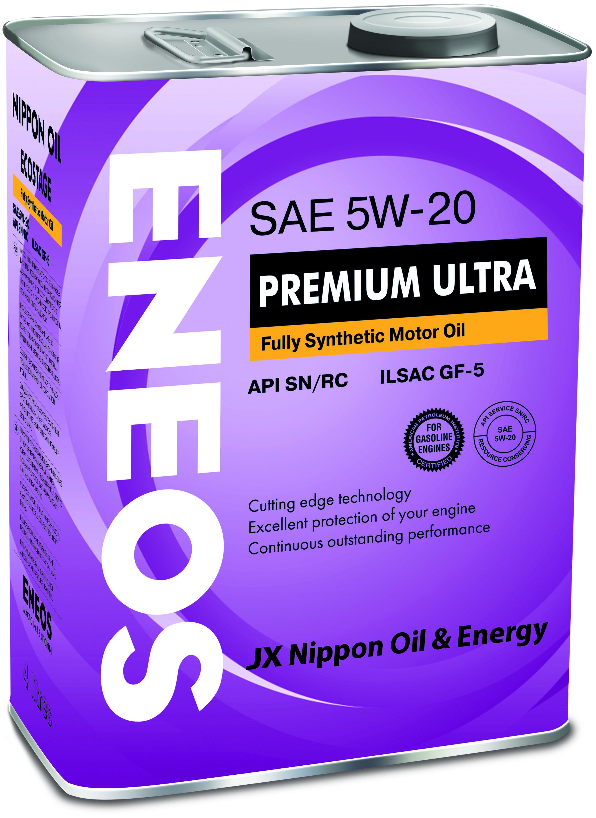 Масло ENEOS Premium Ultra 100% Synt. SN 5/20 (4л) от Ravta