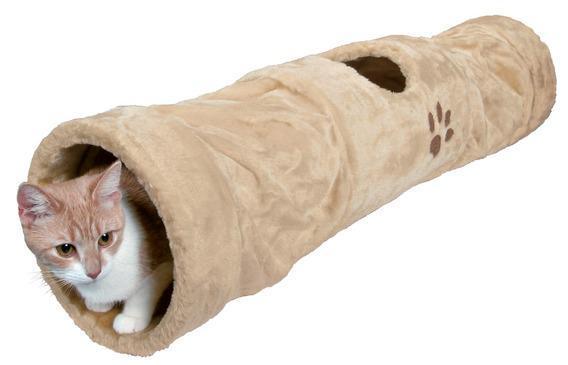 Тоннель TRIXIE для кошки, плюш 125см д.25см., бежевыйДомики, лежаки, когтеточки<br><br><br>Артикул: 43001<br>Бренд: TRIXIE<br>Вид: Домики<br>Страна-изготовитель: Китай