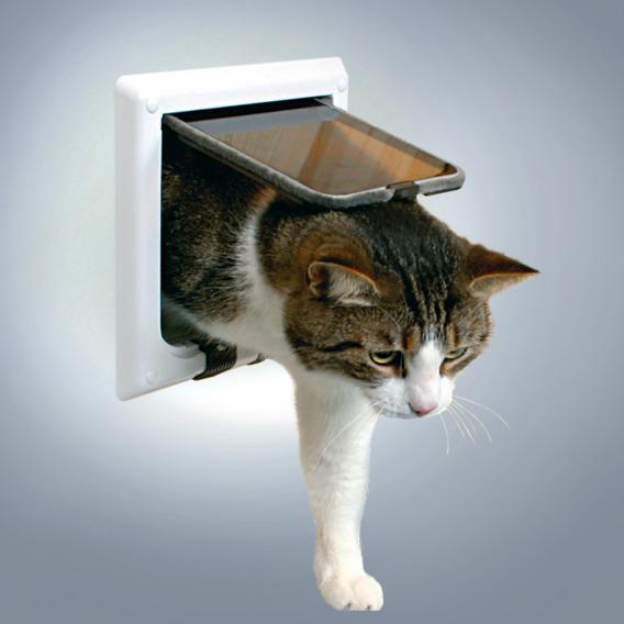 "Дверца TRIXIE для кошки белая, ""de Luxe"" с 4 функциями от Ravta"