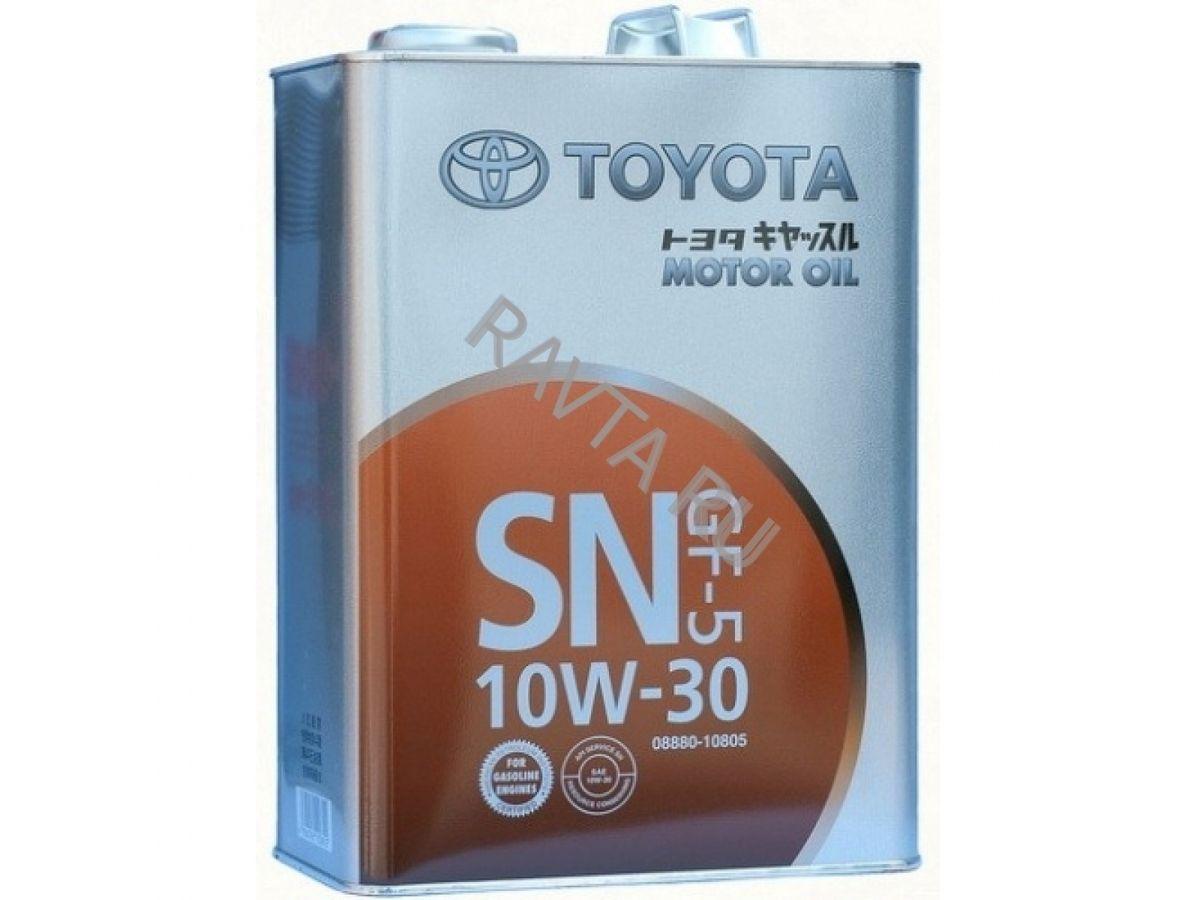 Масло TOYOTA MOTOR OIL SN/GF-5 10/30 (4л) от Ravta