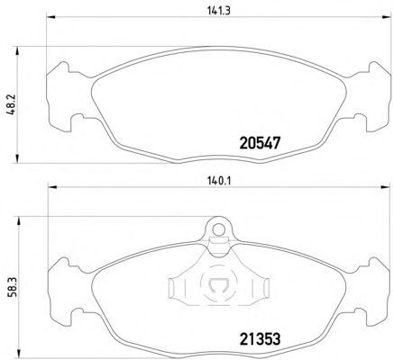 Тормозные колодки Textar передние дисковые комплект Daewoo Nexia [2054701] от Ravta