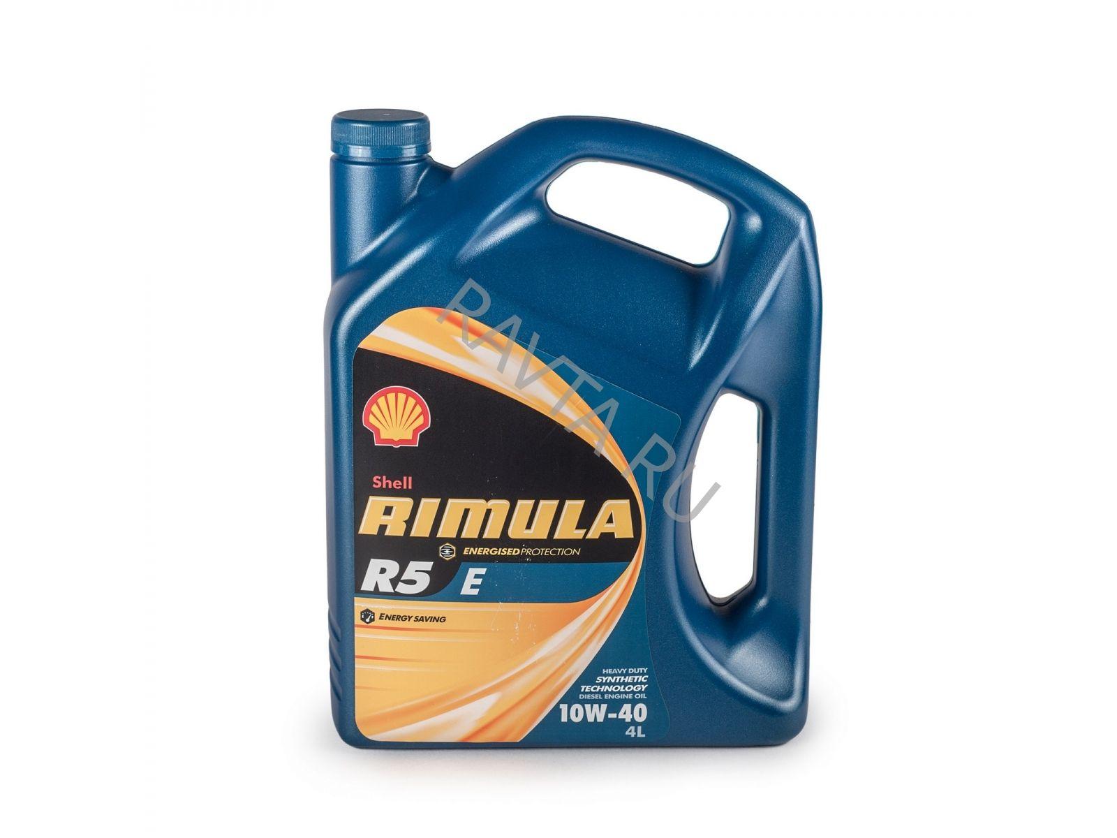 Масло Shell Rimula R5 E 10W-40 ((4л)) от Ravta