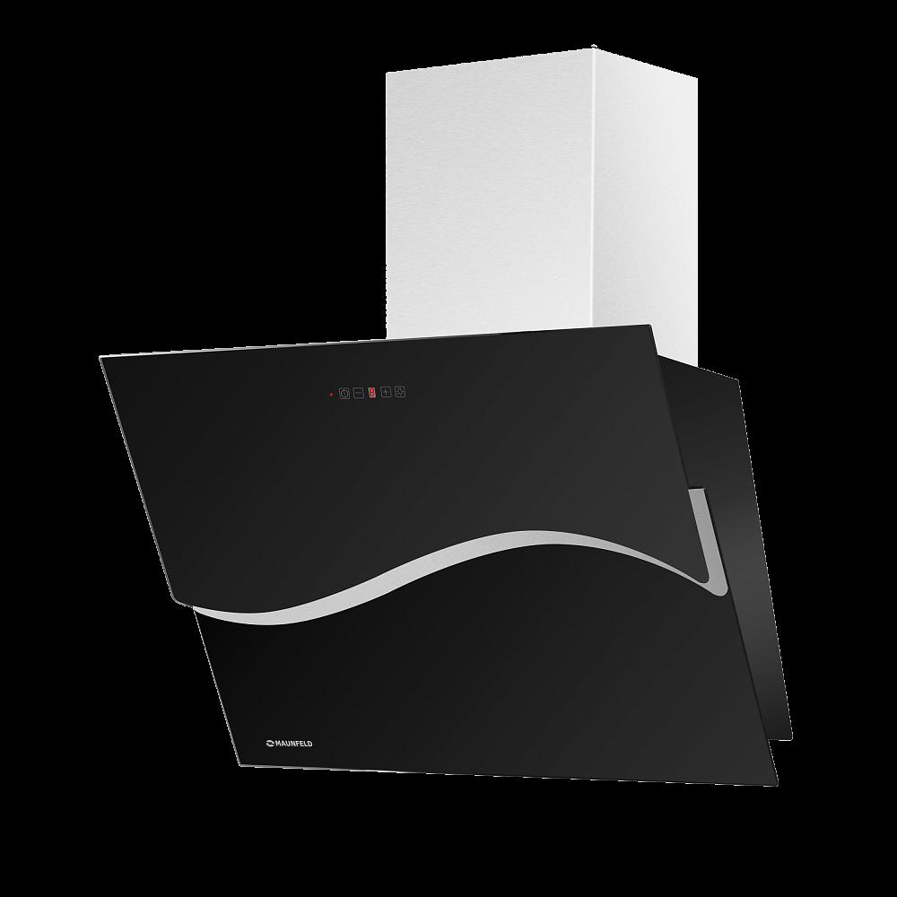 Вытяжка Maunfeld EDEN 60 (черное стекло)Наклонные вытяжки<br>Оригинальный угольный фильтр в подарок!<br><br>Артикул: УТ000000946<br>Бренд: Maunfeld<br>Потребляемая мощность (Вт): 210<br>Гарантия производителя: да<br>Страна-изготовитель: Польша<br>Вес упаковки (кг): 12<br>Цвет: черный<br>Тип управления: электронное<br>Материал корпуса: металл/стекло<br>Глубина(см): 41<br>Ширина (см): 60<br>Производительность(м3/час): 800<br>Высота (см): 76<br>Максимальная высота, декоративный короб (см): 102<br>Тип купольной вытяжки: пристенная<br>Наклонная вытяжка: да<br>Элементы управления: сенсорное