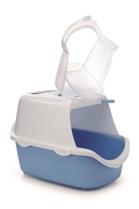 stefanplast Туалет-Домик Stefanplast Cathy Easy Clean с угольным фильтром, голубой, 56*40*40см 23181.гол