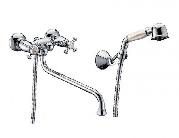 Смеситель для ванны с длинным изливом Iddis Nobelle (арт.NOBSBL0i10) от Ravta