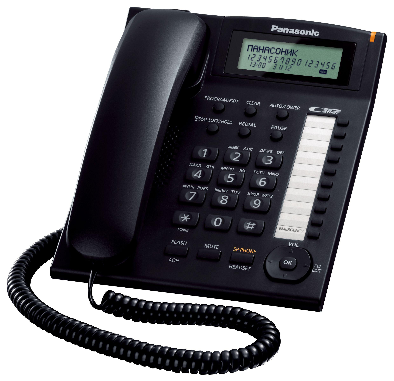 Телефон Panasonic KX-TS2388RUB (черный) от Ravta