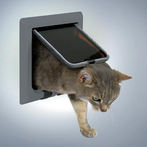 Дверца TRIXIE для кошки 16,5х17,4 см, серая, с 4-мя функциями от Ravta