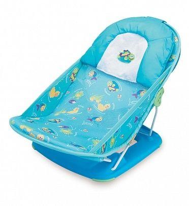 Лежак для купания в ванну Deluxe Baby Bather (цвет - Голубой), Summer InfantГигиена и уход за малышом<br><br><br>Артикул: 18500<br>Бренд: Summer Infant<br>Страна-изготовитель: None<br>Родина бренда: США<br>Категории: Кремы и присыпки<br>Цвет / Размер / Модель: Голубой<br>Тип товара: Лежак