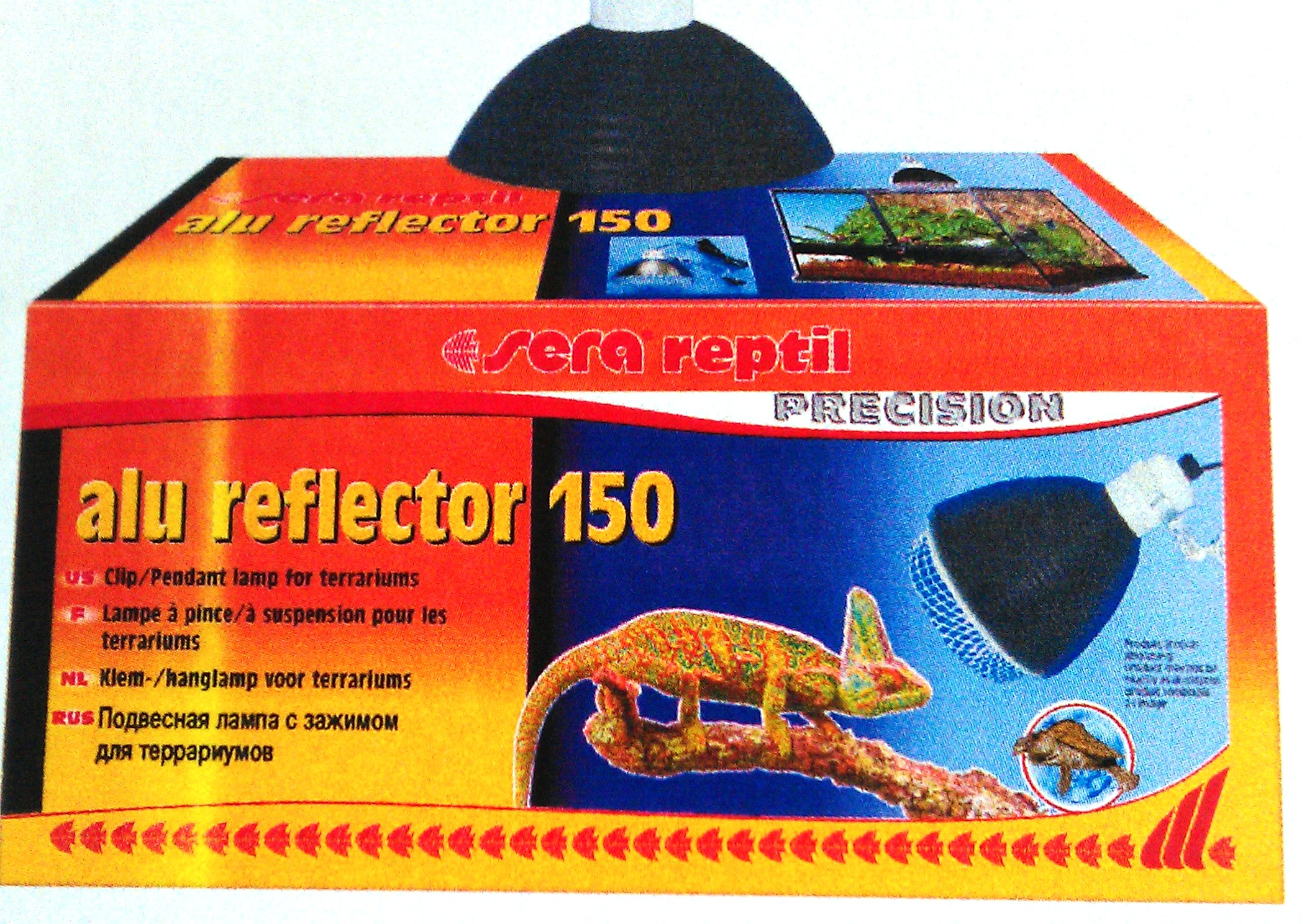 Подвес. светильник с зажим. д/терр. SERA reptil рефлектор, 200 Вт, диам. 20 см от Ravta