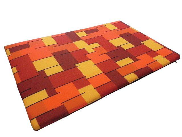 croci Матрац в клетку Квадрат, 100*60 см, оранж. C2W00308