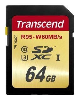 Карта памяти Transcend SDXC UHS-I Card 64GB Class10, U3 (TS64GSDU3) от Ravta