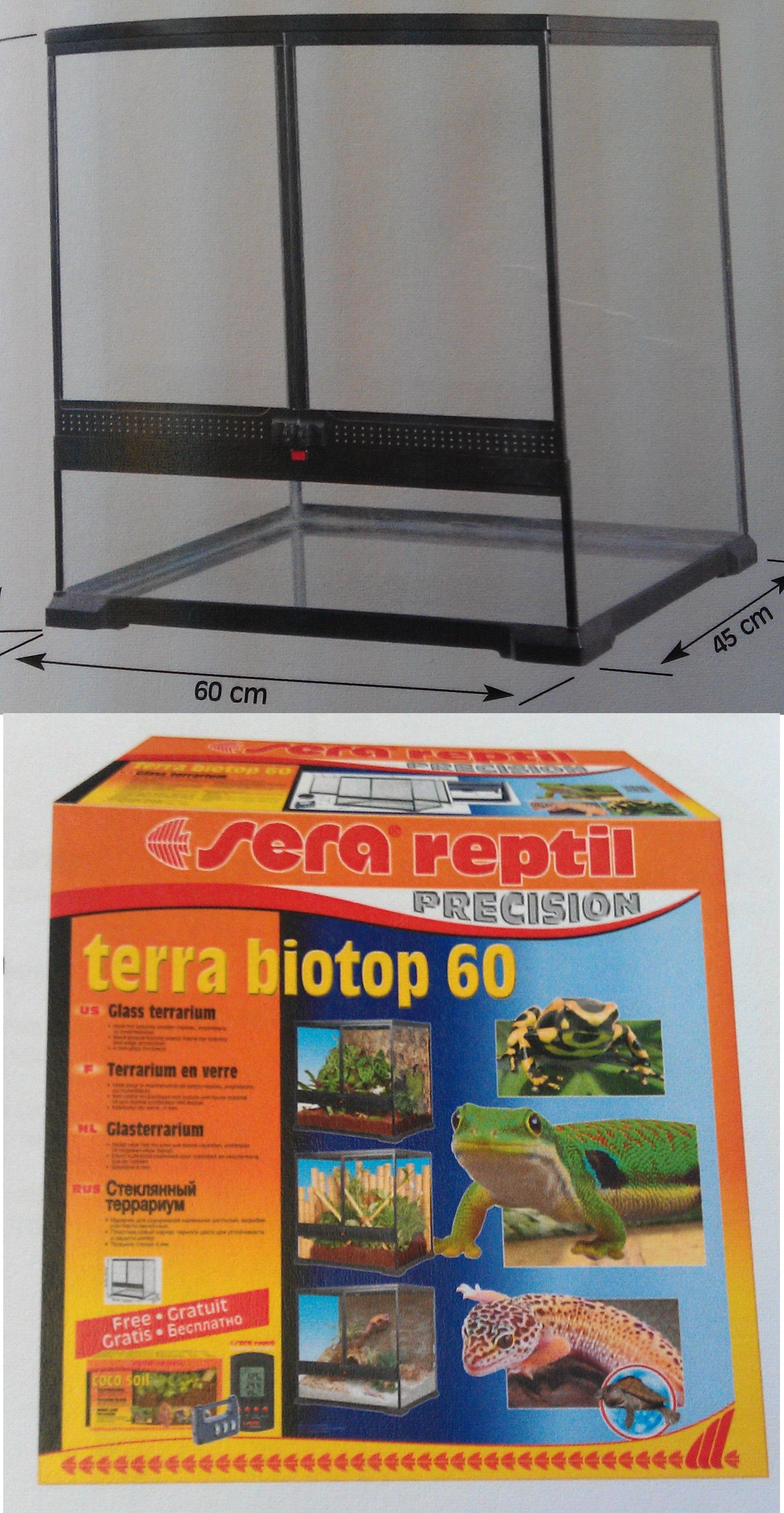 Террариум SERA reptil Терра биотоп 60, 60х60х45 см от Ravta