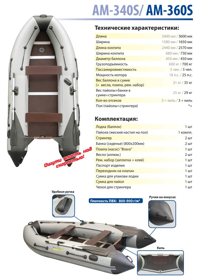 Лодка моторная Адмирал серия SPORT АМ-340S от Ravta