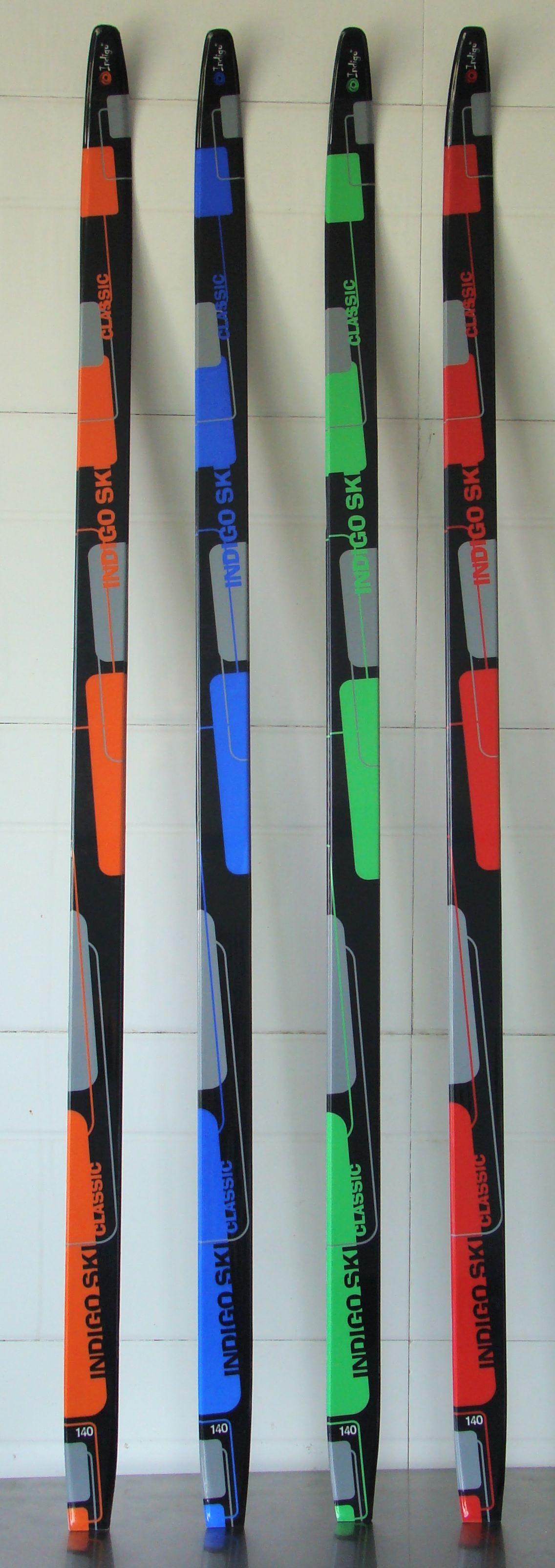 Лыжи п/пл INDIGO CLASSIC 140см цв. Зеленый от Ravta