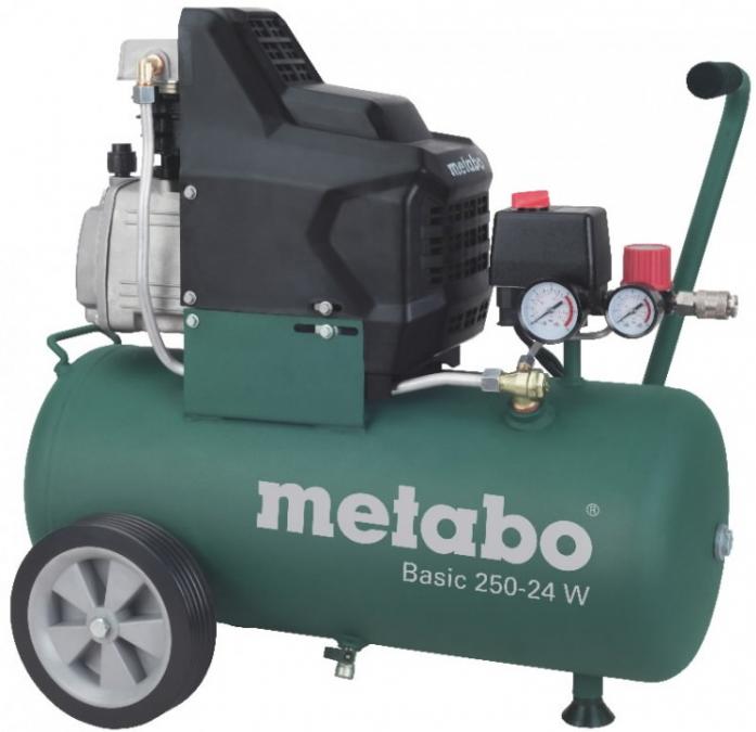 Компрессор METABO Basic 250-24W, 1.5кВт 24л 240л/мин 8бар 630х406х630 27кг масляный (601533000) 601533000 от Ravta