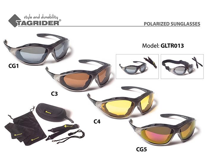 Очки поляриз.Tagrider в чехле GLTR 013 CG1 GR/M уплотнитель EVA от Ravta
