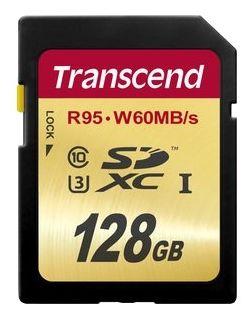 Карта памяти Transcend SDXC UHS-I Card 128GB Class10, U3 (TS128GSDU3) от Ravta
