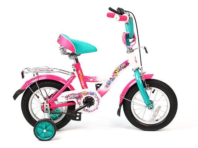 Велосипед 2-х Колесный12 дюймов Proff (зелено-розовый), Safari (GT7809) от Ravta
