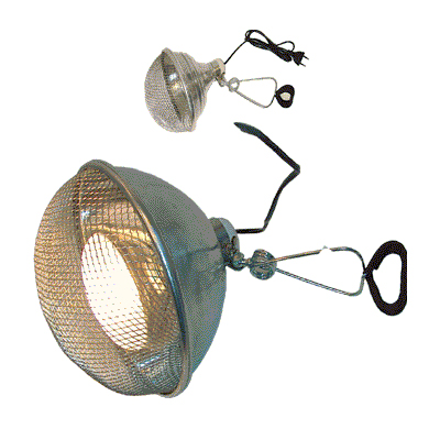 Светильник д/террар. с сеткой на зажиме, диам. 21 см от Ravta