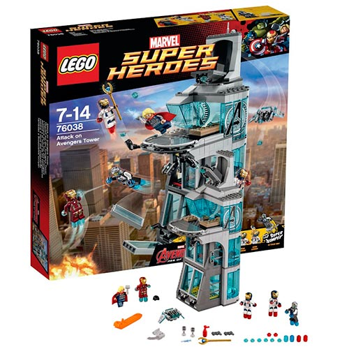 Конструктор Супер Герои Нападение на башню Мстителей, Lego 76038LEGO Конструкторы<br><br><br>Артикул: 76038<br>Бренд: Lego