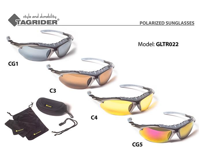Очки поляриз.Tagrider в чехле GLTR 022 CG5 RB/M уплотнитель EVA от Ravta