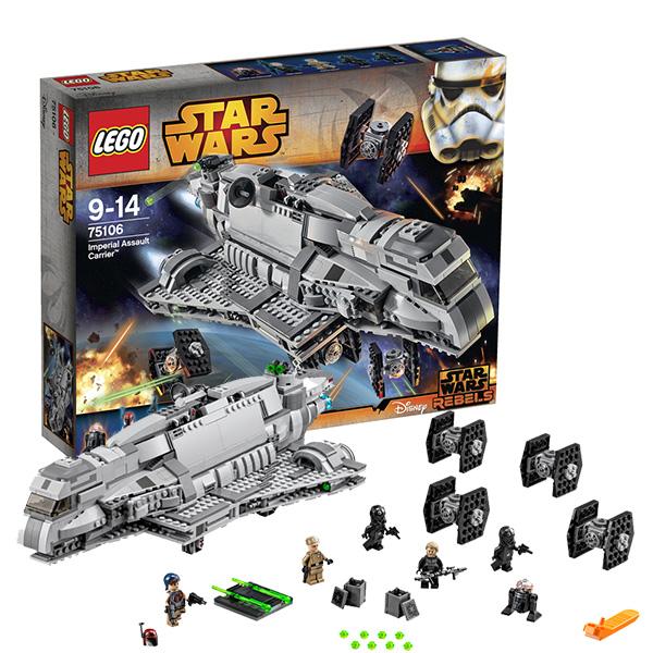 Конструктор Лего Звездные войны (Lego Star Wars) Имперский десантный корабль, Lego 75106LEGO Конструкторы<br><br><br>Артикул: 75106<br>Бренд: Lego