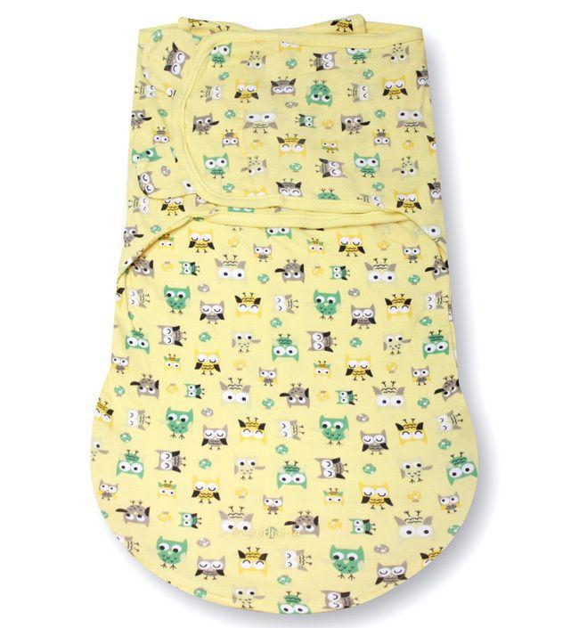 Конверт для пеленания на липучке SwaddleMe WrapSack (цвет - Совы (размер S)), Summer Infant от Ravta