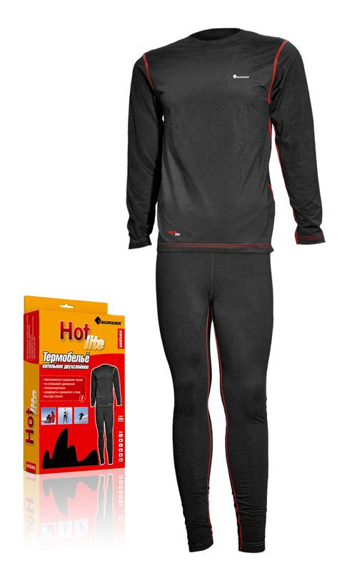 Термобелье Tagrider Hot Lite нательное черное XL от Ravta