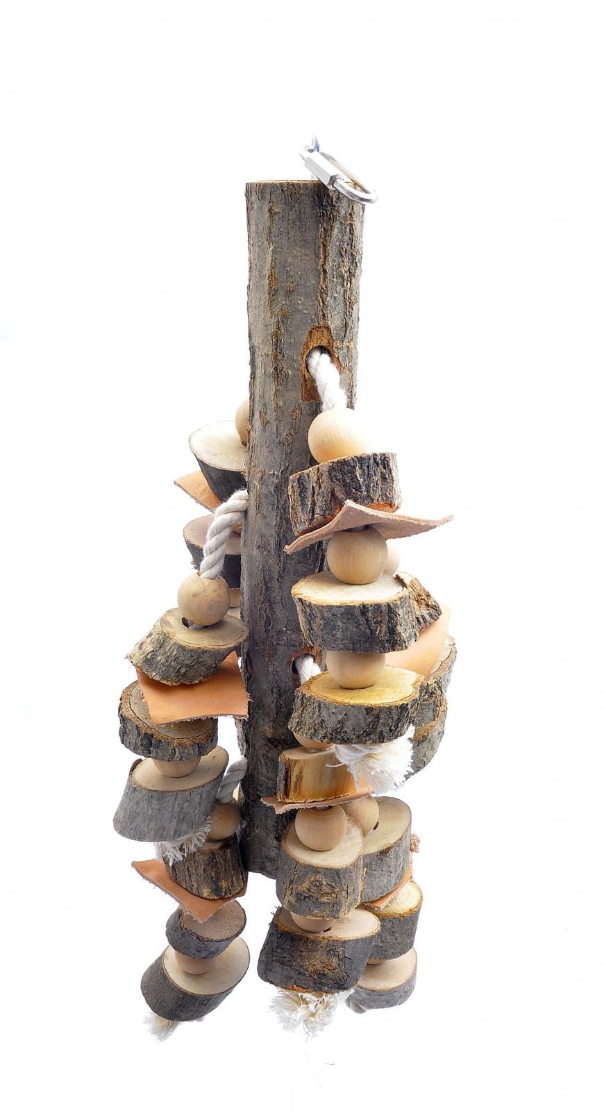 "Benelux Игрушка для длиннохвостых попугаев ""Мега дразнилка"" 72*28 см (Сoco toy xxl for parrot/parrakeet) 14438 от Ravta"