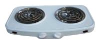 Настольная плита ГОМЕЛЬ ЭПТ-2МД-08  белая 2конф.2,0кВт,нерж.чаша от Ravta
