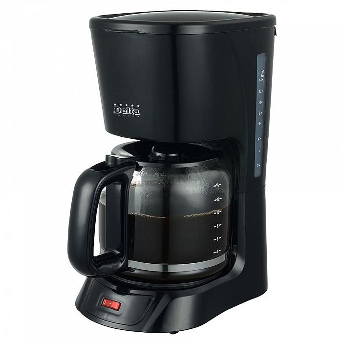 Кофеварка DELTA DL-8141, черная, 1200Вт от Ravta